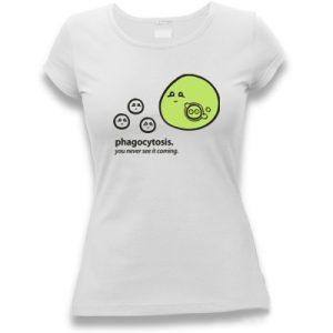 tričko dámské s potiskem fagocytóza biologické bio
