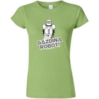 tričko dámské gazdina robot bugemos s potiskem