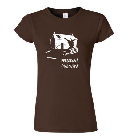 tričko dámské s potiskem perníková chaloupka