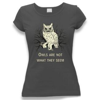 tričko dámské s potiskem Sovy Twin Peaks
