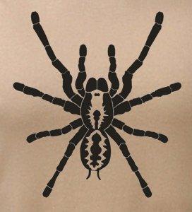 detail potisku trička Pavouk
