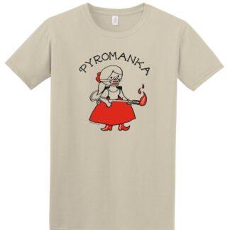 Tričko s potiskem Pyromanka