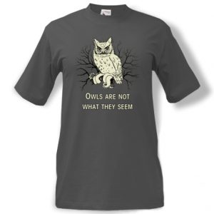 Tričko s potiskem Twin Peaks sovy