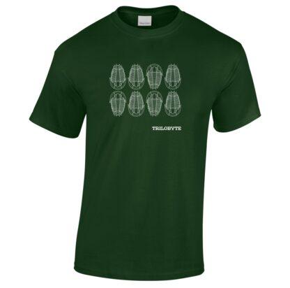 Tričko pánské zelené s potiskem Trilobyte