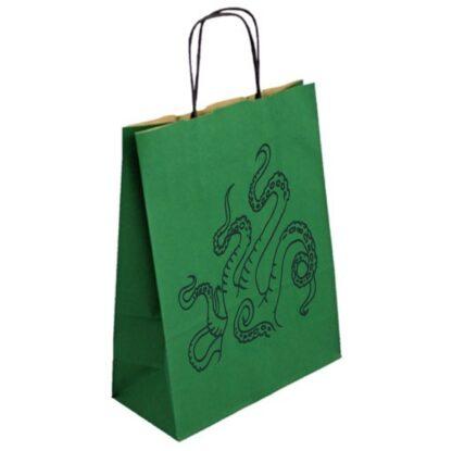 taška dárková chapadla zelená papírová