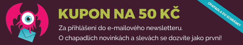 Kupon na 50 Kč za registraci do newsletteru