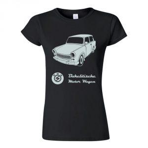 tričko dámské černé retro trabant