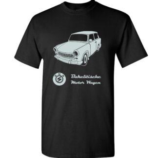 tričko trabant černé pánské retro auto