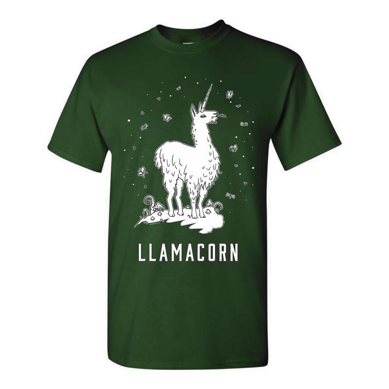 Tričko pánské s potiskem Llamacorn