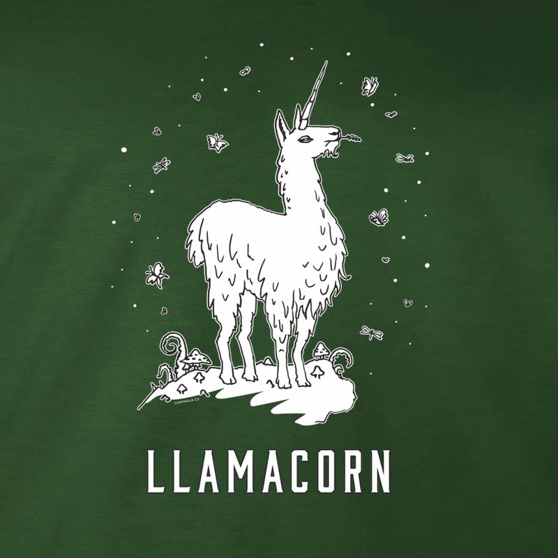 potisk trička Llamacorn