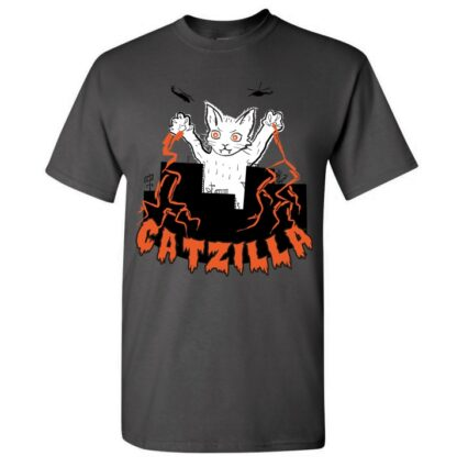 tričko s potiskem Catzilla kočka godzilla