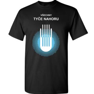 Tričko se svítícím potiskem nukleární radiace Tyče nahoru
